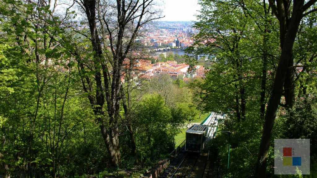 Bergbahn Aussicht Petrin