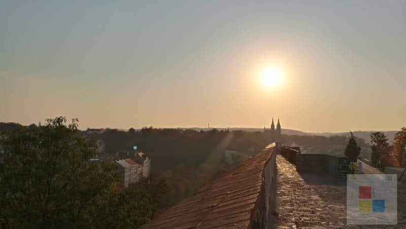 letzte Bastion | Sonnenuntergang hinter dem Vysehrad