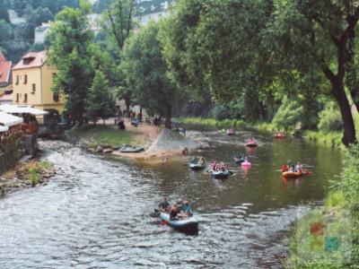 Sport | Paddeln auf der Moldau