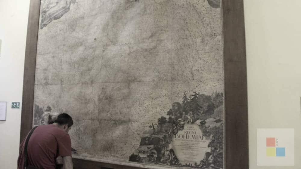 Karte der böhmischen Länder