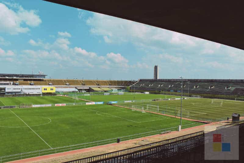 Das Spielfeld des Stadions Strahov