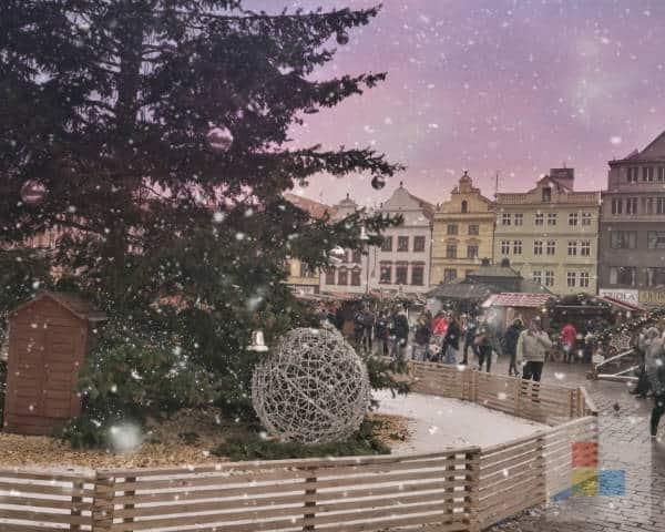 Weihnachtsmarkt in Plzen
