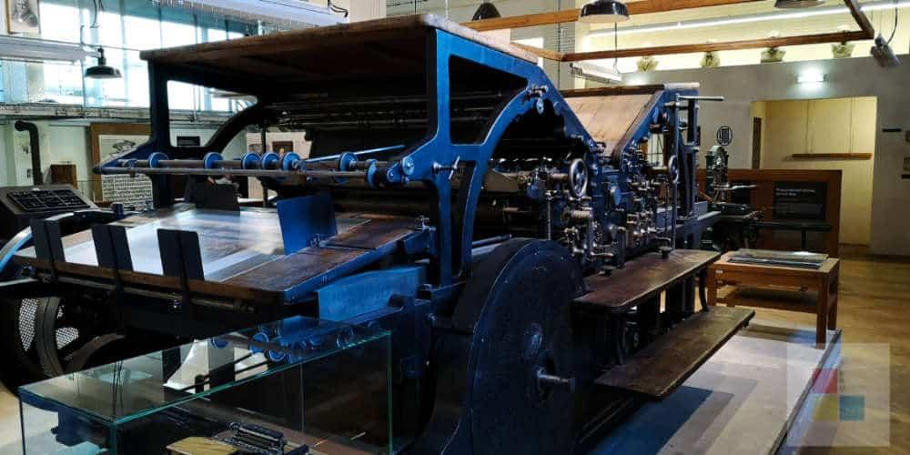 Technikmuseum Prag   Druckerpresse