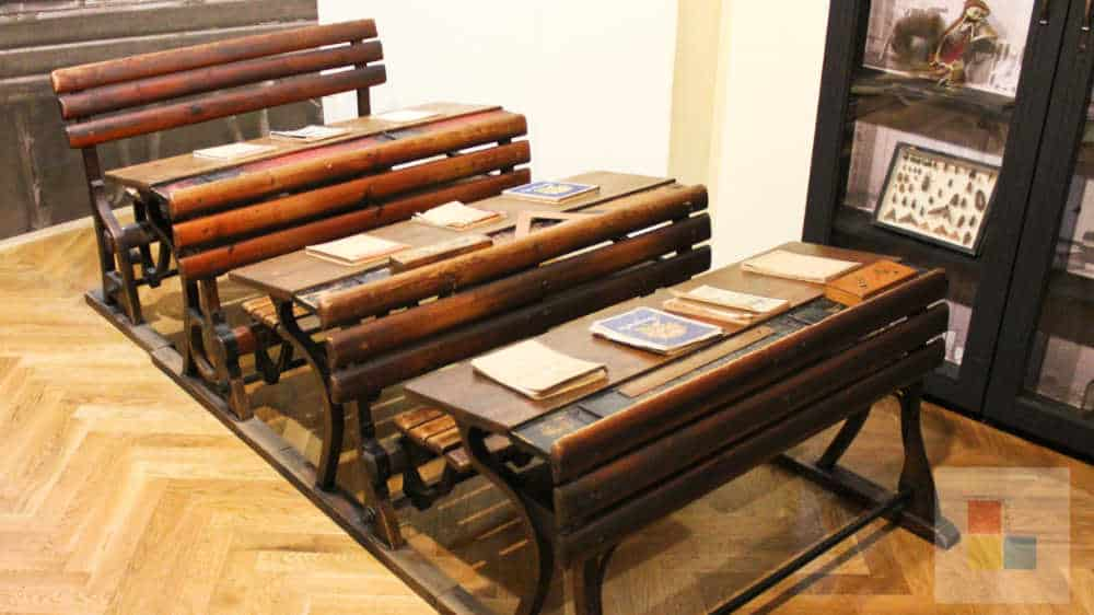 Pädagogisches Museum | Schulbänke